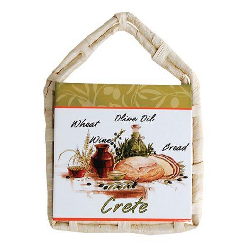 Κάδρο - Βάση Για Σκεύη Ψάθινη 15Χ15εκ