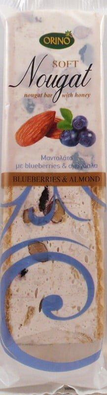 Μαντολάτο Με Αμύγδαλα & Bluberries 70γρ