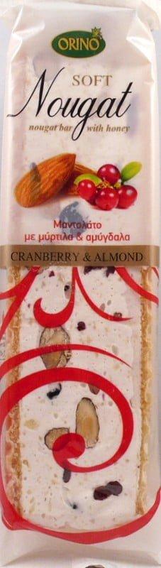 Μαντολάτο Με Αμύγδαλα & Cranberries 70γρ