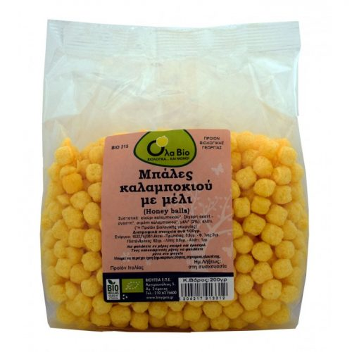 Corn balls with  honey ΒΙΟ 200gr