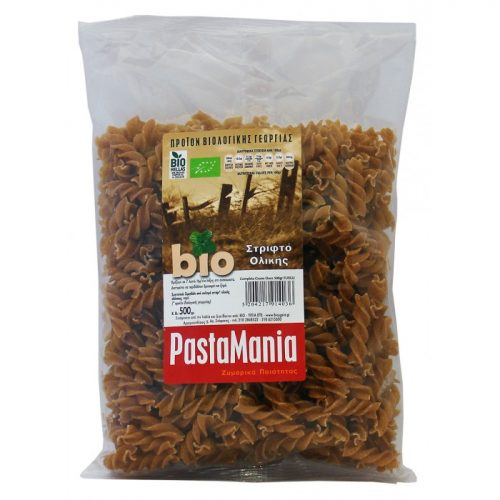 Fusilli wholewheat ΒΙΟ 500gr