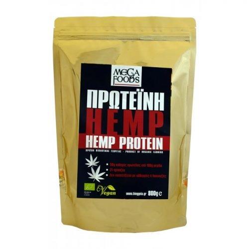 Πρωτεϊνη κάνναβης (Hemp protein powder) ΒΙΟ 800gr