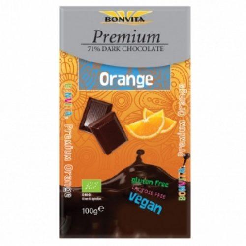 Dark chocolate71% with orange Bio 100gr