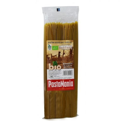 Spaghetti garlic & parsley Pastamania ΒΙΟ 500gr