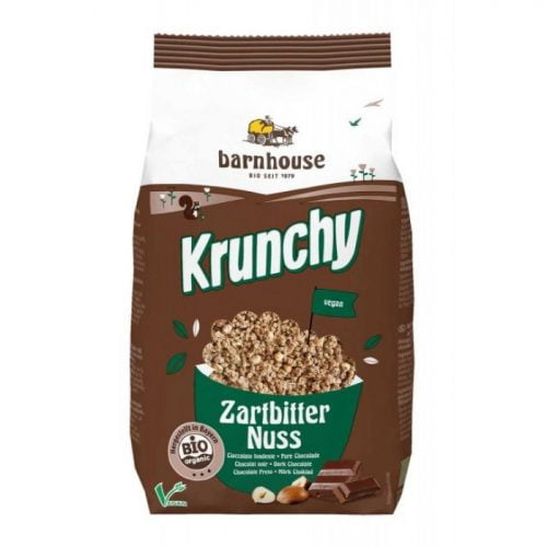 krunchy dark chocolate - hazelnuts bio 375gr