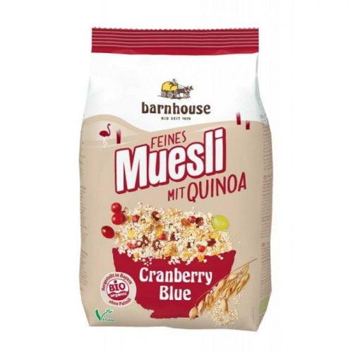 muesli quinoa cranberry bio 450gr