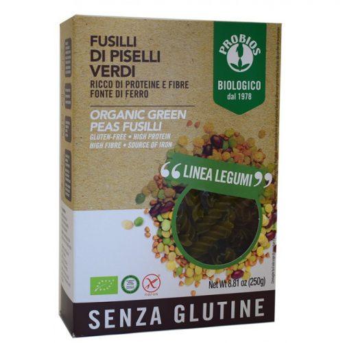 Green peas fusilli bio 250gr