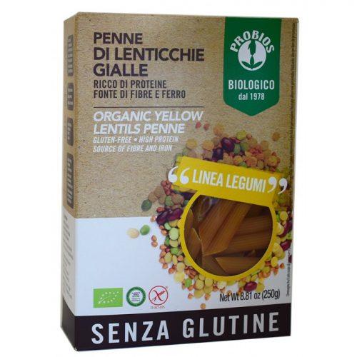 Yellow lentils penne bio 250gr