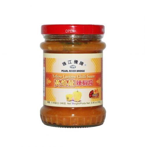 Εξαιρετικά Καυτερή Σάλτσα Τσίλι από Κίτρινες Κινέζικες Πιπεριές 240gr