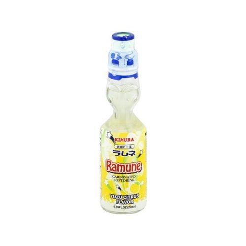 Ανθρακούχο Αναψυκτικό – Λεμονάδα Ramune με Γεύση Γιούζου 200 ml