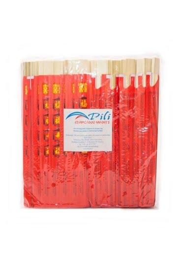 Ξυλάκια μίας Χρήσης σε Κόκκινο Φάκελο (100 ζευγάρια)